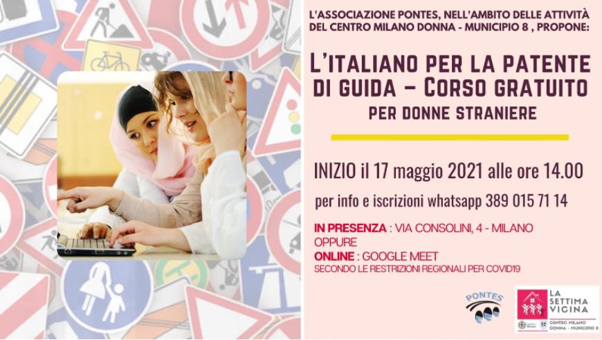 corso gratuito di italiano per la patente di guida